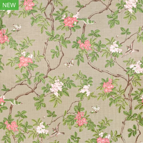 7814-11 BIRDS AND BUTTERFLY HERRINGBONE SANDUNE